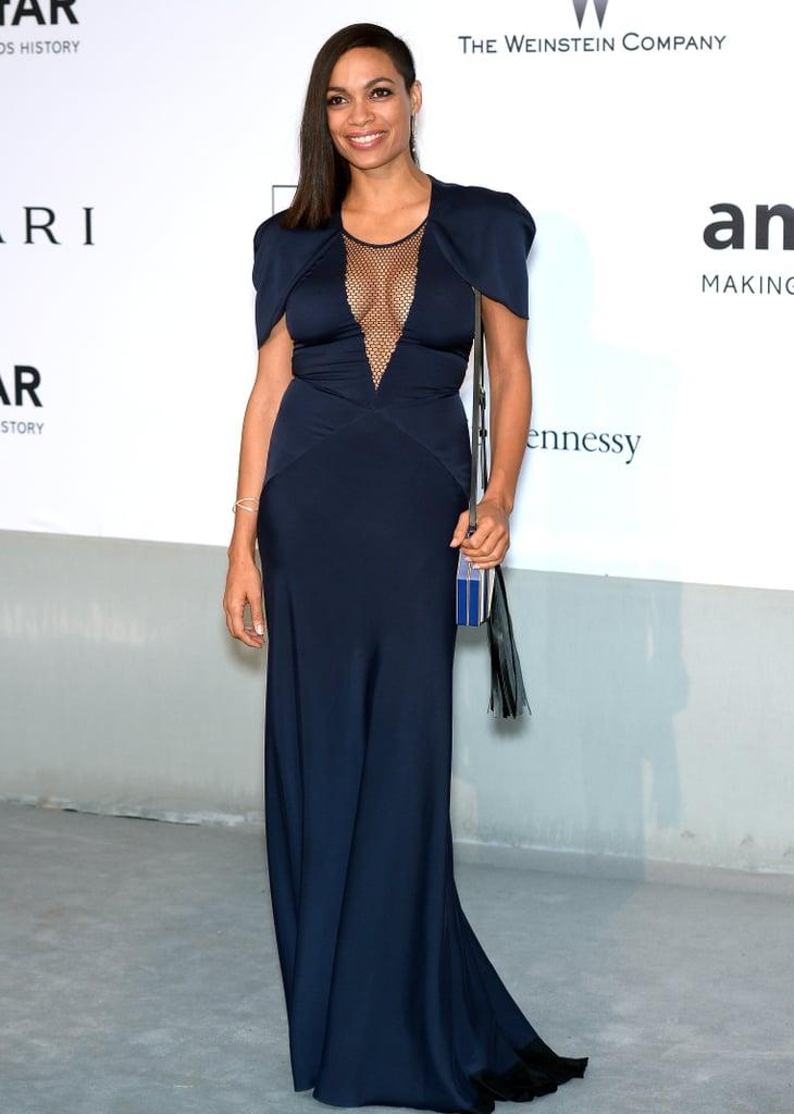 Rosario Dawson at the amfAR Cinema Against AIDS Gala