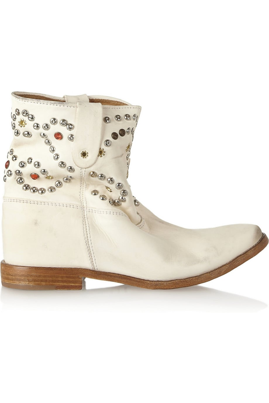 Isabel Marant Caleen Studded Leather Concealed Wedge Boot ($445, originally $890)