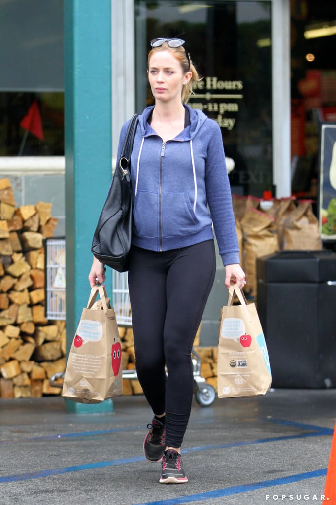 See Emily Blunt's Growing Baby Bump!