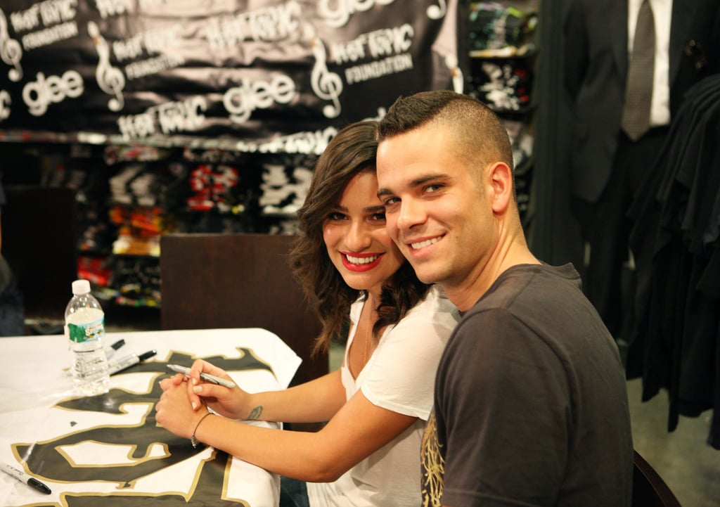 She took an adorable snap with her Glee costar, Mark Salling, during their Gleek Tour in New Jersey back in August 2009.