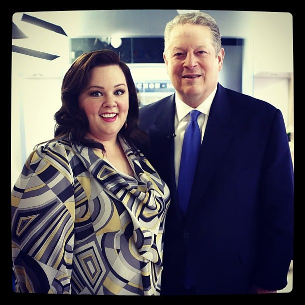 Melissa McCarthy and Al Gore stopped by the Today show. Source: Instagram user todayshow
