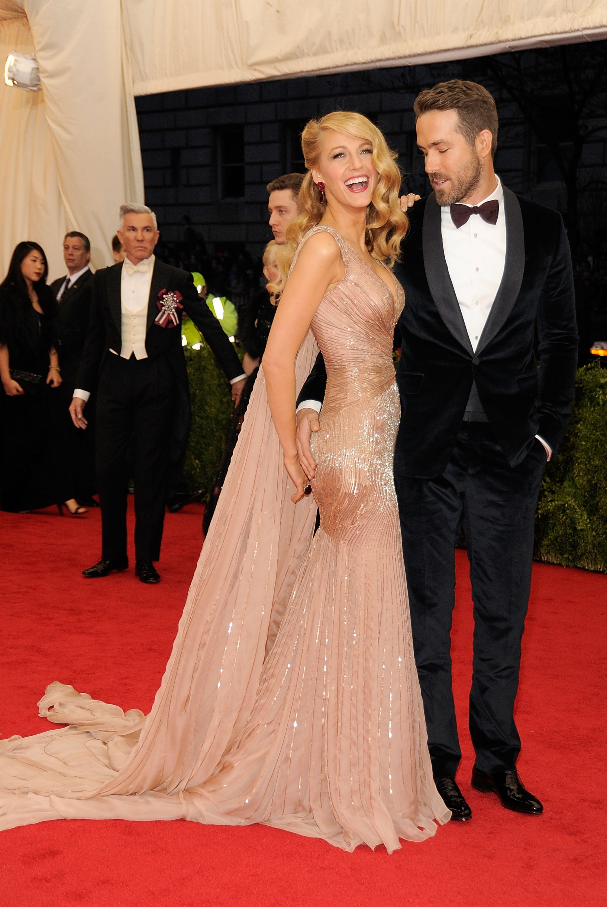 Ryan Reynolds Copping a Feel at the Met Gala