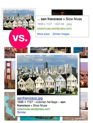Google vs. Bing Image Search
