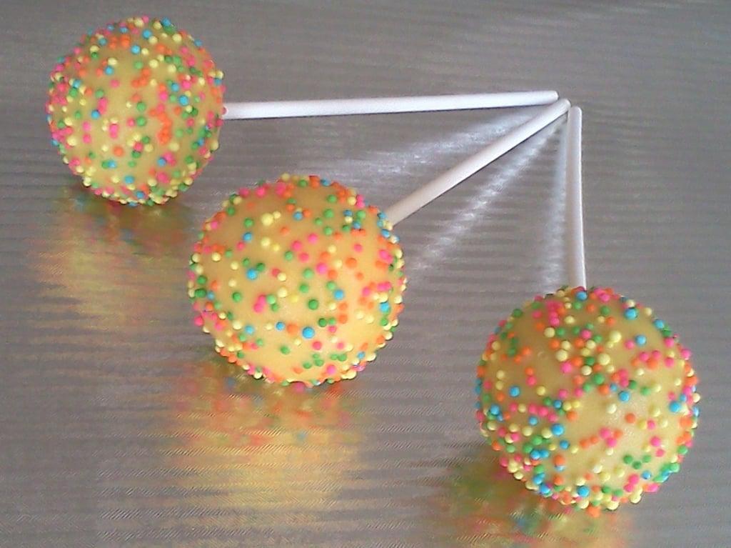 Pastel Sprinkled Yellow Cake Pops