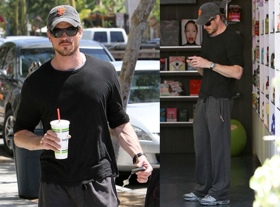 Pictures of Eric Dane Wearing Giants Hat in LA