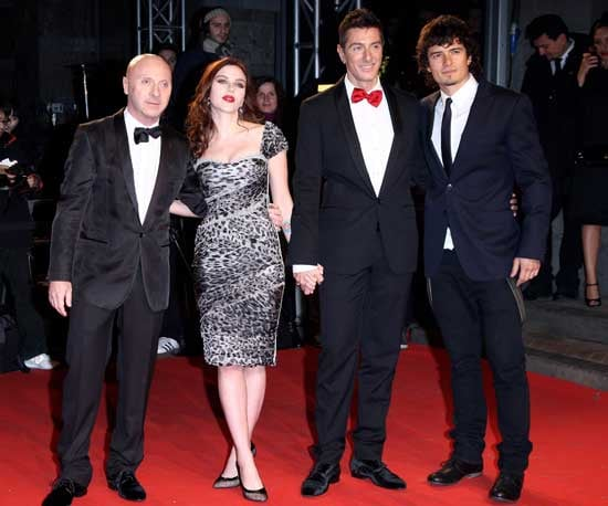 Photo of Scarlett Johansson, Orlando Bloom, Domenico Dolce, and Stefano Gabbana at the Extreme Beauty in Vogue Party in Milan