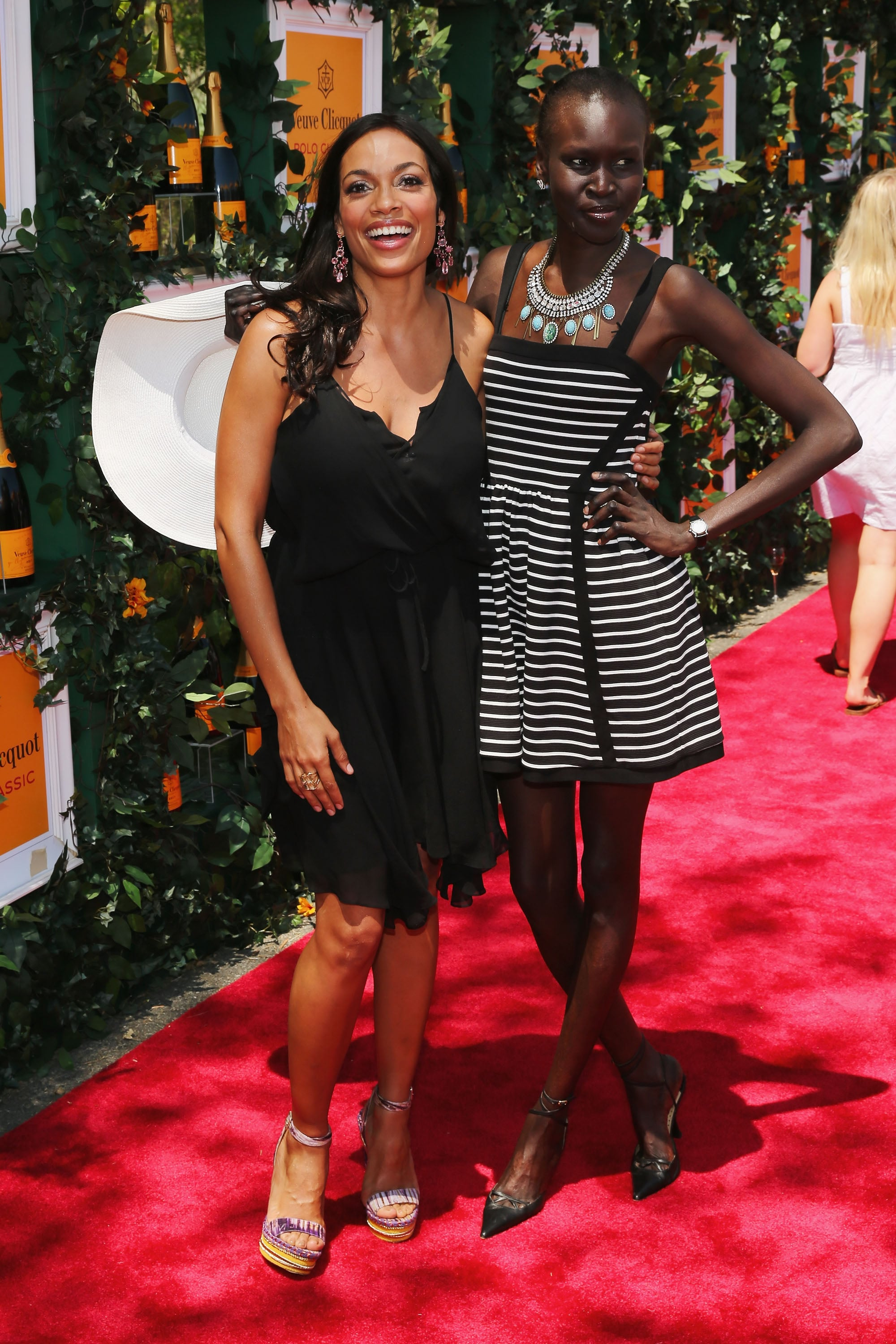 Rosario Dawson and Alek Wek at the sixth annual Veuve Clicquot Polo Classic in Jersey City, NJ.