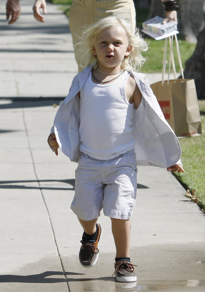 Zuma Rossdale had fun on Father's Day in LA.