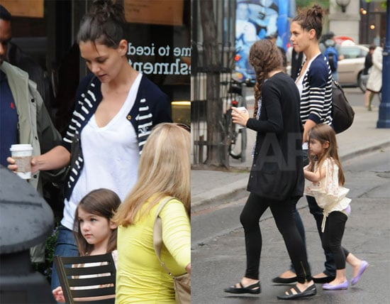 Katie Holmes and Suri Cruise Leaving a Coffee Shop in Toronto