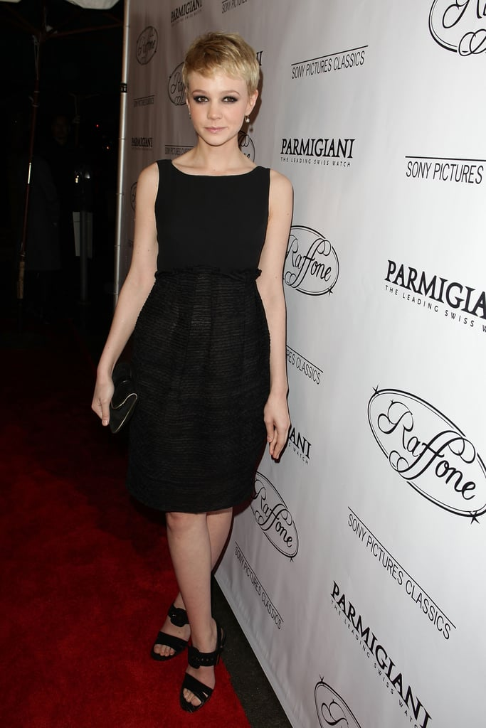 Carey Mulligan in a High-Waisted LBD at the 2010 Sony Pictures Dinner Party