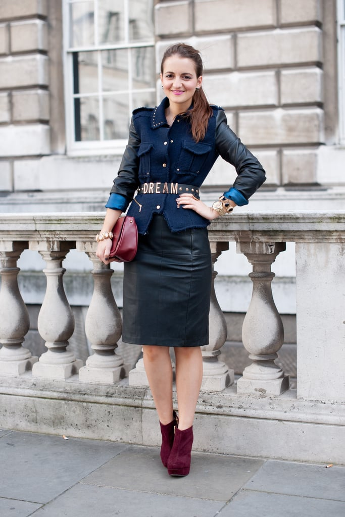 """Just one more reason to try out the """"reinvented"""" pencil skirt — aka it doesn't have to go hand in hand with a stuffy 9-to-5 look."""