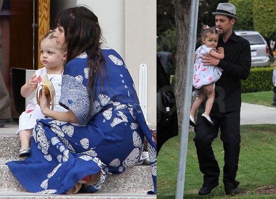 Photos of Nicole Richie, Joel and Harlow Madden Attending Church on Easter