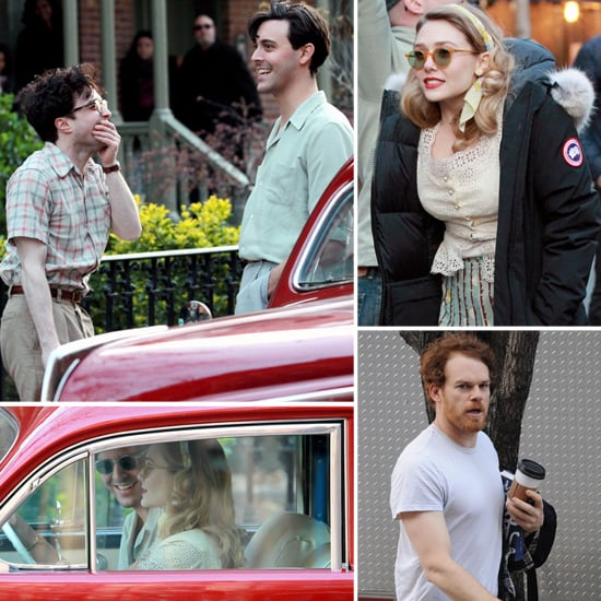 Elizabeth Olsen Gets Into Character With Daniel Radcliffe and Jack Huston