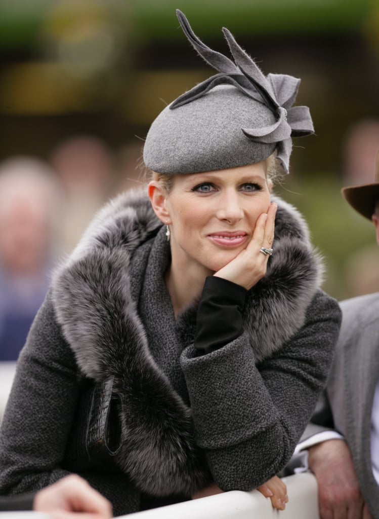Zara took in some horse racing in March 2012.