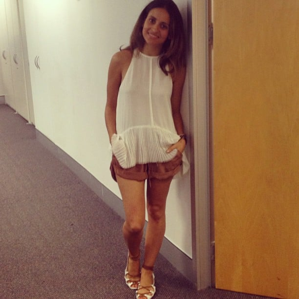 Marisa was looking very cool in her Camilla and Marc top, Natasha shorts and Anna & Boy sandals.