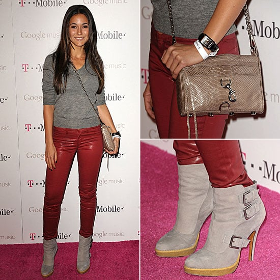 Emmanuelle Chriqui Carrying Rebecca Minkoff Bag November 2011