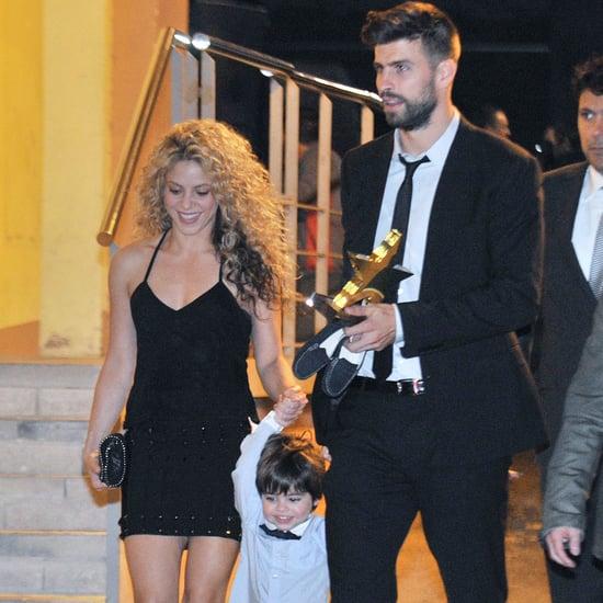 Shakira & Gerard Pique PDA at the Football Federation Awards