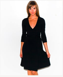 Interlock Wrap Dress $44, American Apparel
