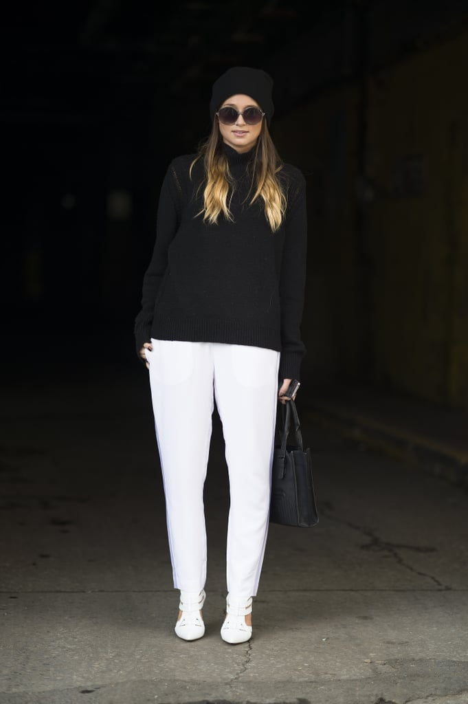 A sharp white and black contrast made these basic silhouettes much more attention-grabbing. Source: Le 21ème   Adam Katz Sinding
