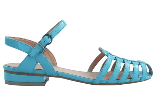 Wear the season's prettiest hues on your feet. This pastel blue sandal is an old school style with statement-making power. Marais USA Woven Sandal in Pool ($88)