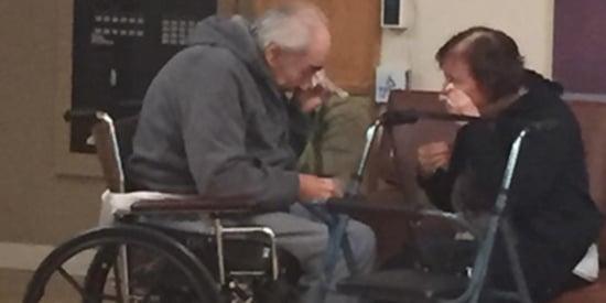 'Saddest Photo Ever Taken' Captures Elderly Couple's Agonizing Goodbye