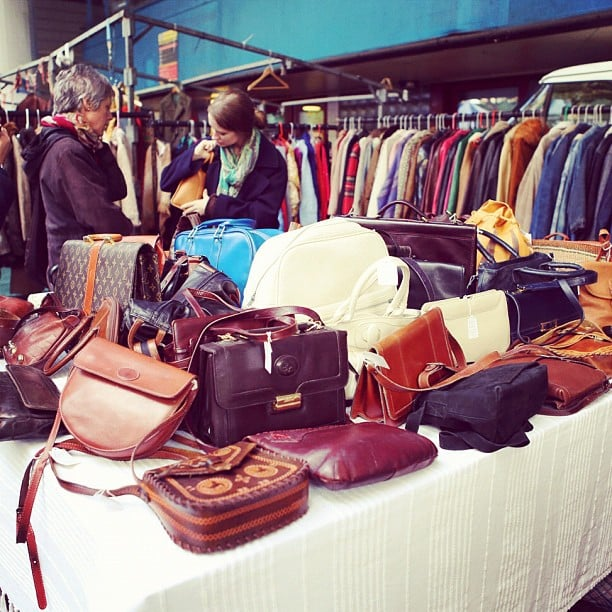 Bags! So many bags. Nicole Warne did a spot of vintage shopping at Portobello Markets in England. Source: Instagram user garypeppergirl