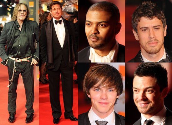 Photos of Mickey Rourke, Brad Pitt, Toby Kebbell, Noel Clarke, Dominic Cooper, Nicholas Hoult at BAFTA Awards 2009