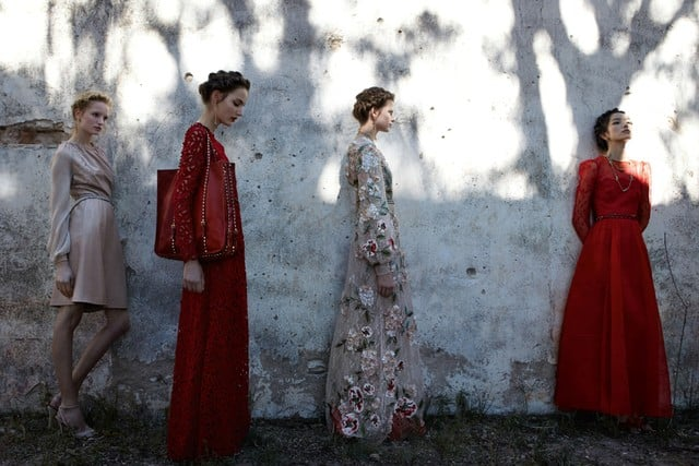 Valentino's signature red gowns appear in his Spring 2012 ad campaign. Source: Fashion Gone Rogue