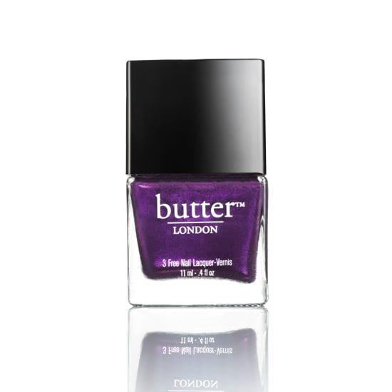 Keeping an eye on the royal couple is my guilty pleasure, and apparently Butter London shares my fixation. The British polish brand mixed up Pitter Patter ($15), a bright plum shimmer that's right on trend for Spring, to honor the impending arrival of Will and Kate's little one.  — JC