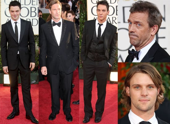 Photos Of All The Men From 2009 Golden Globe Awards Featuring Brad Pitt, Dev Patel, Jesse Spencer, Hugh Laurie, Dominic Cooper