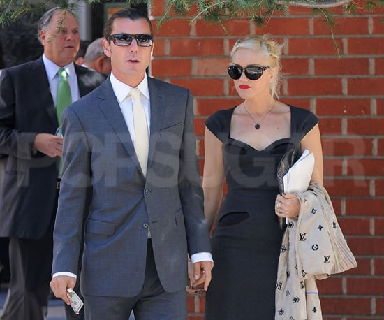 Slide Picture of Gwen Stefani and Gavin Rossdale Leaving Temple in Beverly Hills