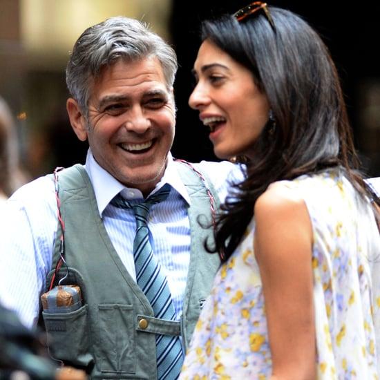 Amal Alamuddin Visits George Clooney on Money Monster Set