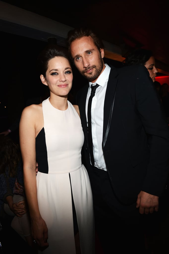 Marion Cotillard and Matthias Schoenaerts hung out together inside the venue.