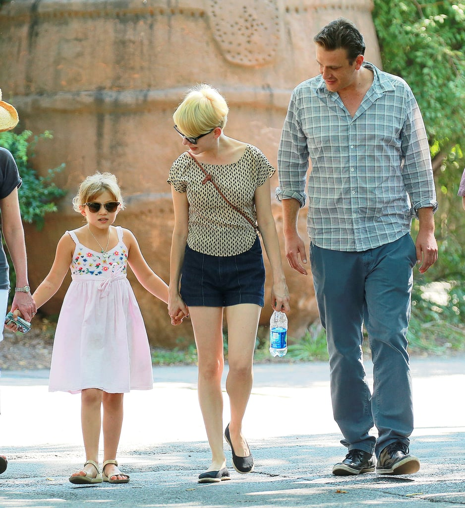 Jason Segel seems to be relishing in the fatherly role he's taken on.