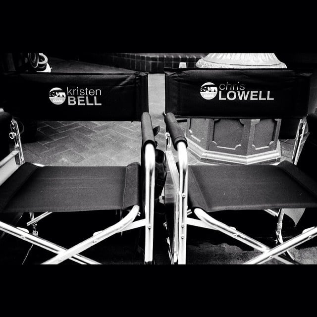 It's the onscreen couple's thrones! Source: Instagram user mrchrislowell