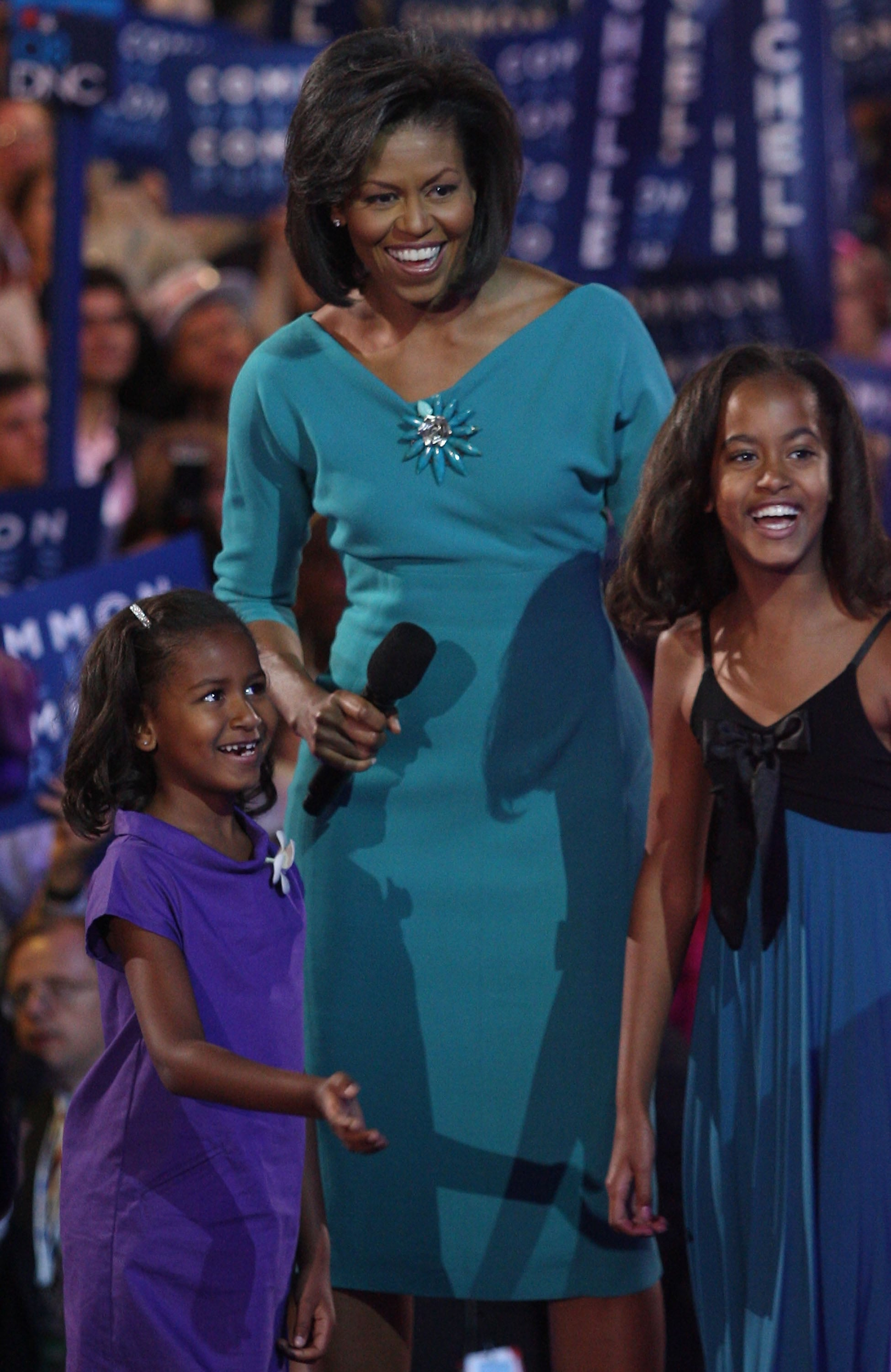 Sasha, Michelle, and Malia were adorable as they were introduced to the country at the Democratic National Convention in 2008.
