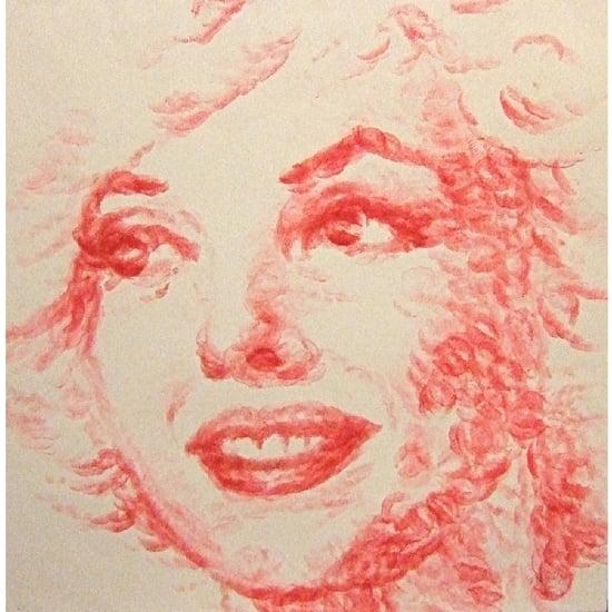 Marilyn Monroe Portrait Made From Kisses 2011-07-13 05:00:00