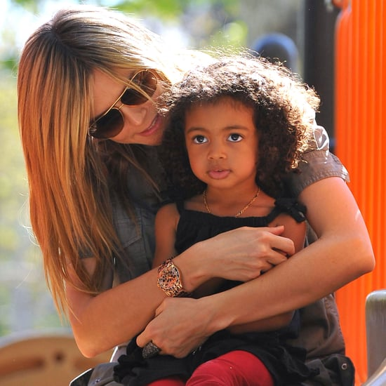 Heidi Klum Pictures With Kids at the Beach