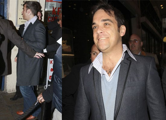 Photos Of Robbie Williams At The First Meeting Of The Featured Artists' Coalition