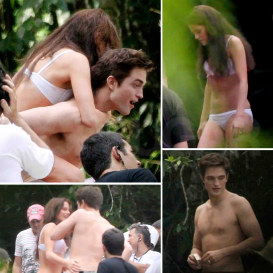 Get Excited For Breaking Dawn's Waterfall Scene With Shirtless Rob and Bikini Clad Kristen!