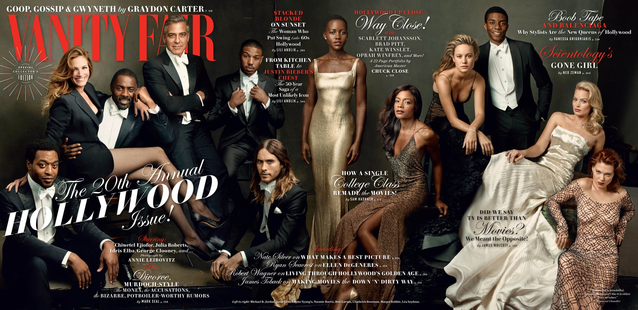 Vanity Fair's Hollywood Issue Is Here, and It's Spectacular