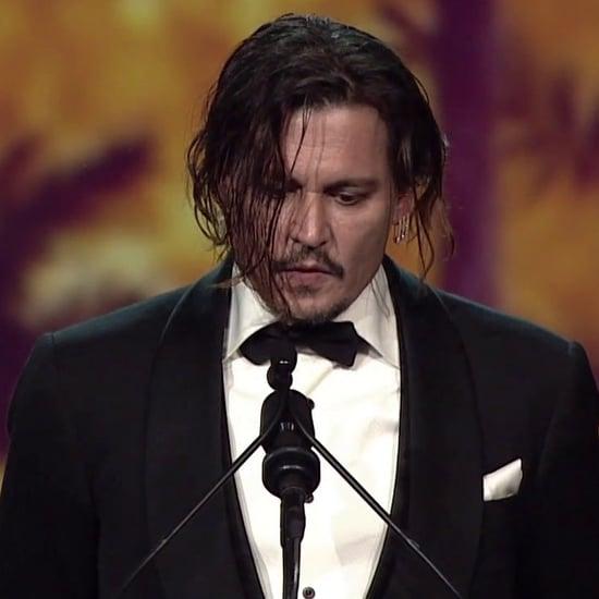 Johnny Depp's Speech on Amber Heard (Video)