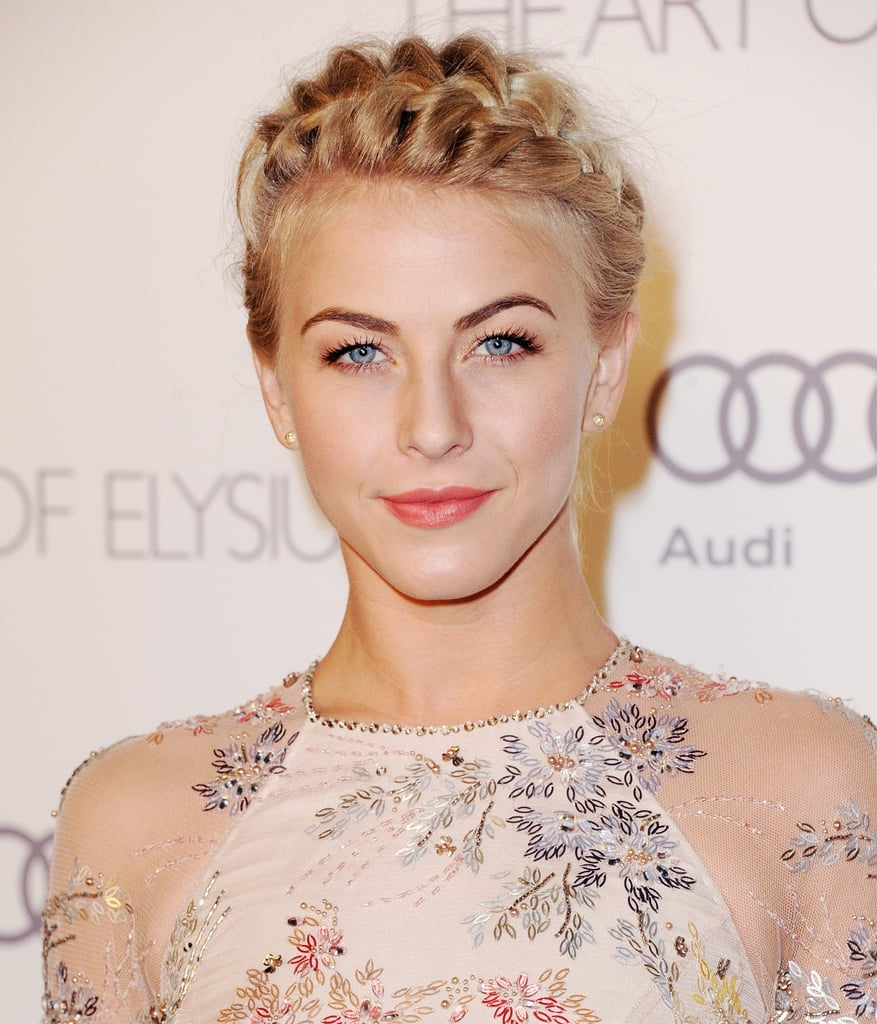 Julianne opted for a braided headband style at the Art of Elysium's 6th Annual Heaven Gala.