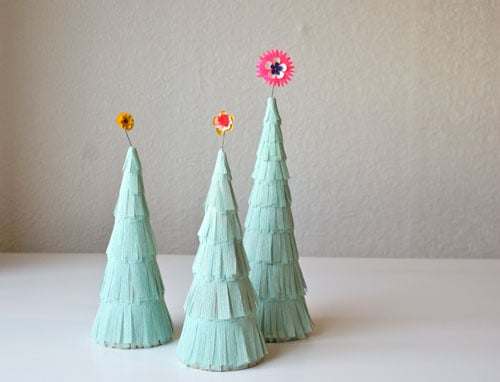 Crafts: Christmas Flapper Trees
