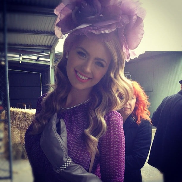 Jesinta Campbell got dressed up and made up as the fashion and social ambassador for the 2012 BMW Caulfield Cup Carnival. Source: Instagram user jesintac