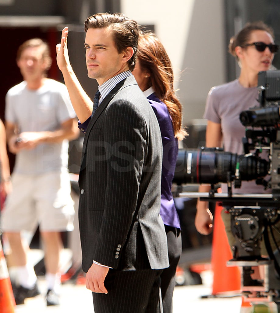 Matt Bomer looked on from the sidelines.