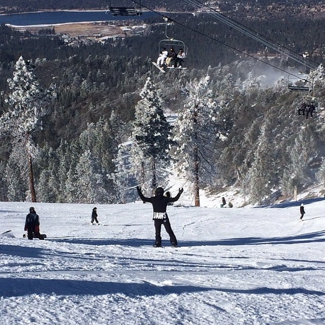 Michael Trevino hit the slopes on Bear Mountain in Big Bear Lake, CA. Source: Instagram user michael_trevino