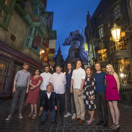 Harry Potter Actors at Diagon Alley | Video