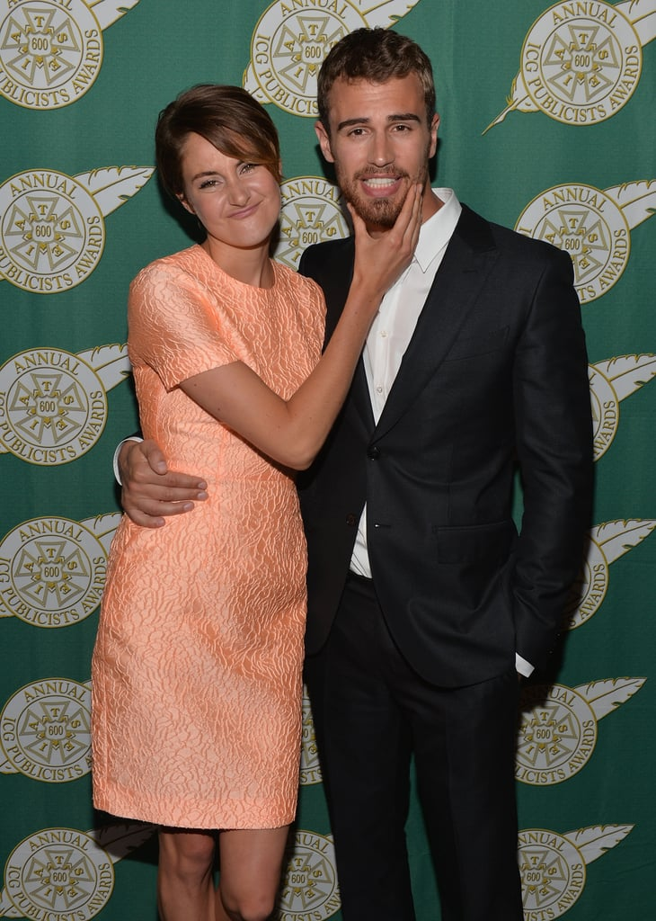 Theo and Shailene got playful on the carpet at the Publicists Awards Luncheon in LA in February.