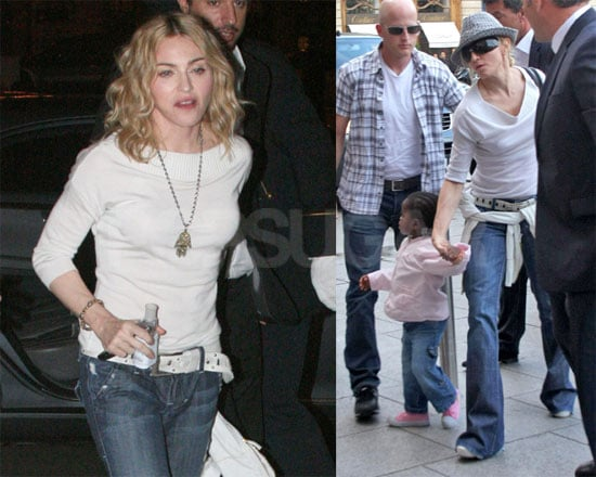Photos of Madonna, Lourdes Ciccone Leon, Rocco Ritchie, David Banda, Mercy Ciccone in Paris
